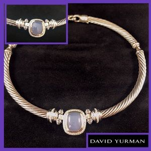 David Yurman Necklace Diamond 18k Gold Sterling